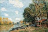 The Banks of The River Loing by Alfred Sisley