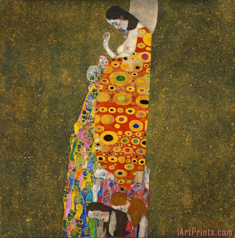 Hope Ii Lady painting - Gustav Klimt Hope Ii Lady Art Print