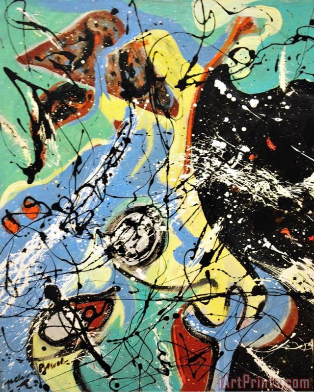 Composition painting - Jackson Pollock Composition Art Print