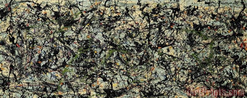 Lucifer 1947 painting - Jackson Pollock Lucifer 1947 Art Print