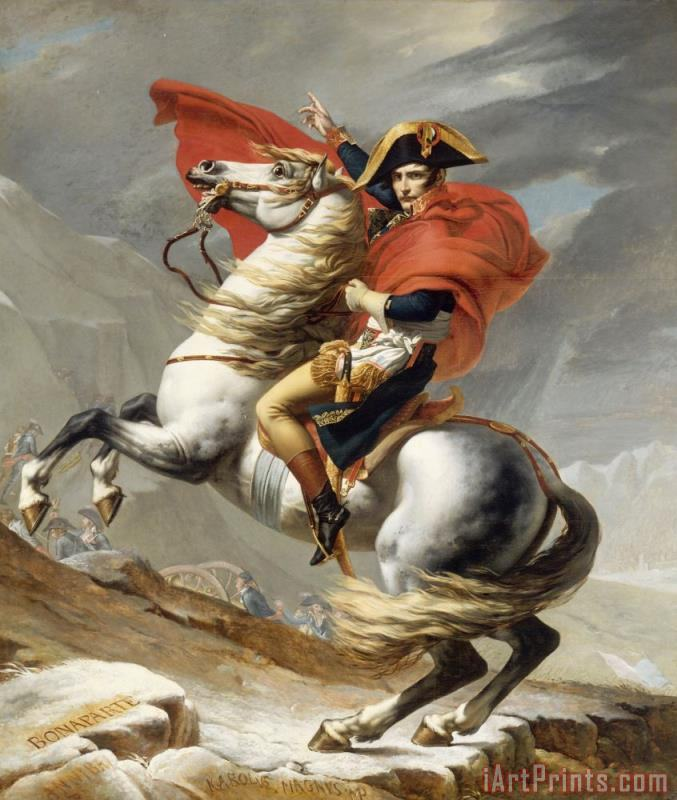 Bonaparte Crossing The Grand Saint-bernard Pass painting - Jacques Louis David Bonaparte Crossing The Grand Saint-bernard Pass Art Print