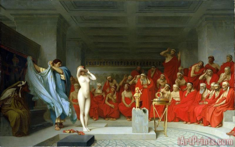 Jean Leon Gerome Phryne Before The Areopagus Art Print