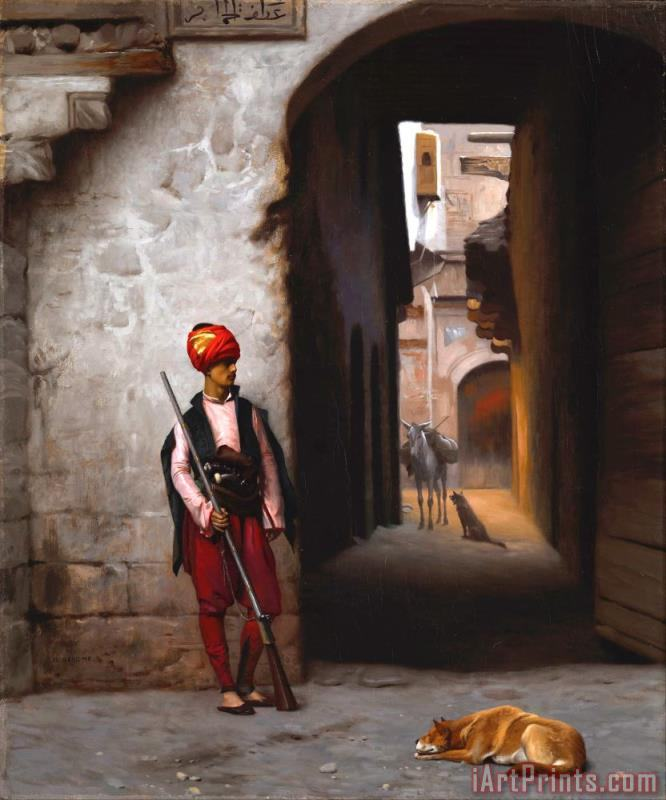 Jean Leon Gerome The Guard Art Print