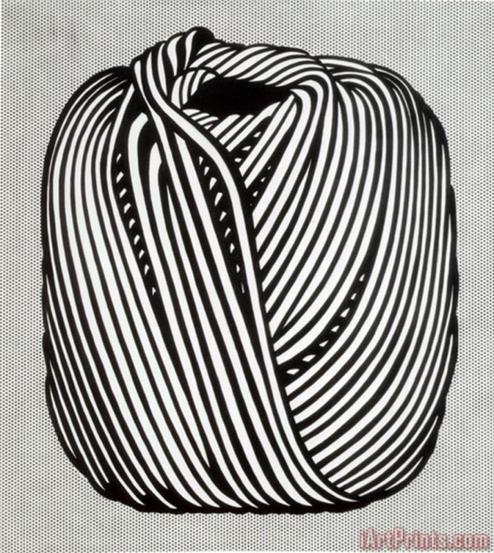 Ball of Twine 1963 painting - Roy Lichtenstein Ball of Twine 1963 Art Print