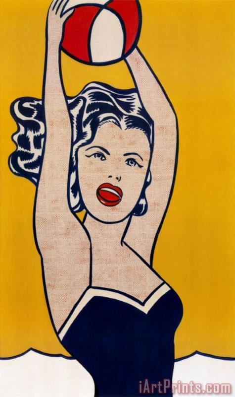 Roy Lichtenstein Girl with Ball Art Print