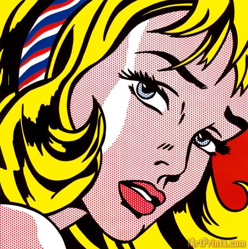 Roy Lichtenstein Girl with Hair Ribbon C 1965 Art Print