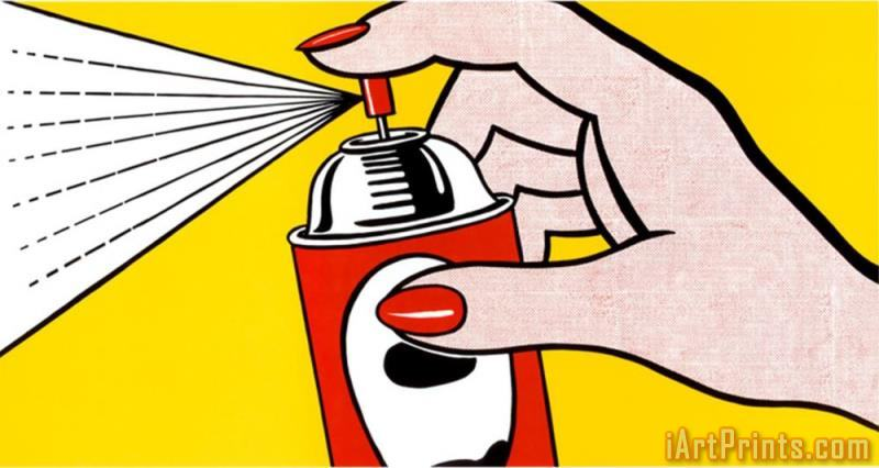 Spray 1962 painting - Roy Lichtenstein Spray 1962 Art Print