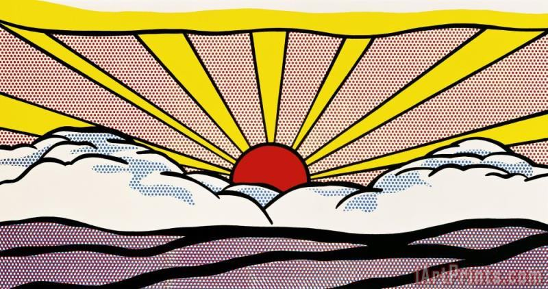 Sunrise C 1965 painting - Roy Lichtenstein Sunrise C 1965 Art Print