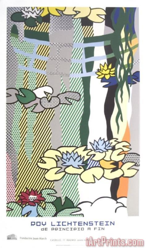 Roy Lichtenstein Water Lilies with Japanese Bridge Art Print