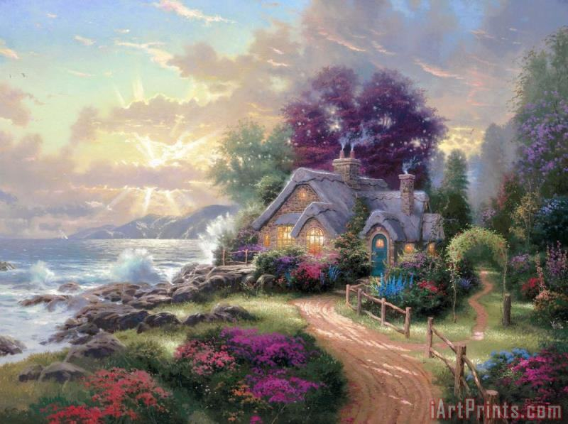A New Day Dawning painting - Thomas Kinkade A New Day Dawning Art Print