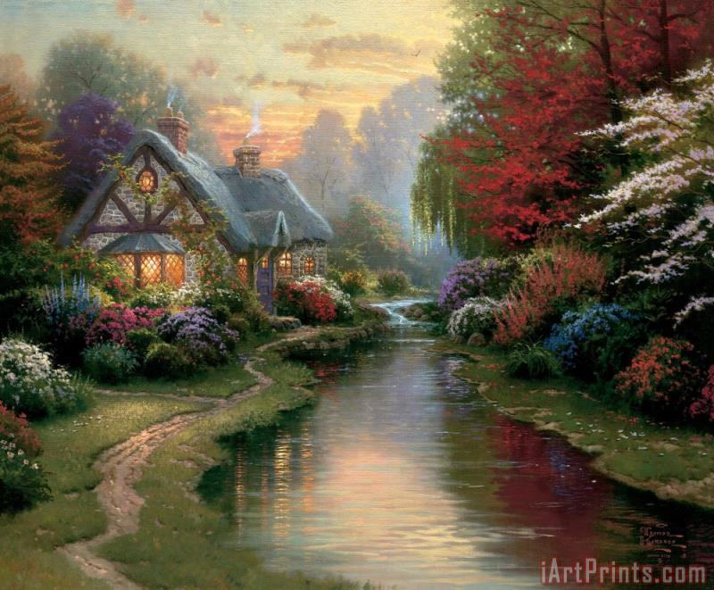 A Quiet Evening painting - Thomas Kinkade A Quiet Evening Art Print