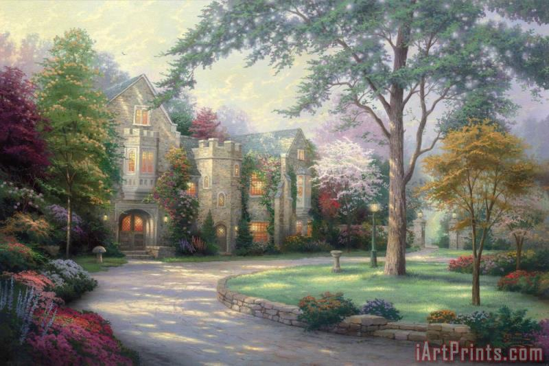 Beyond Summer Gate painting - Thomas Kinkade Beyond Summer Gate Art Print