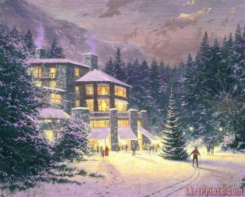 Thomas Kinkade Christmas at The Ahwahnee painting - Christmas at The ...
