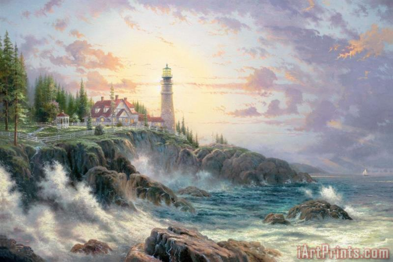 Clearing Storms painting - Thomas Kinkade Clearing Storms Art Print