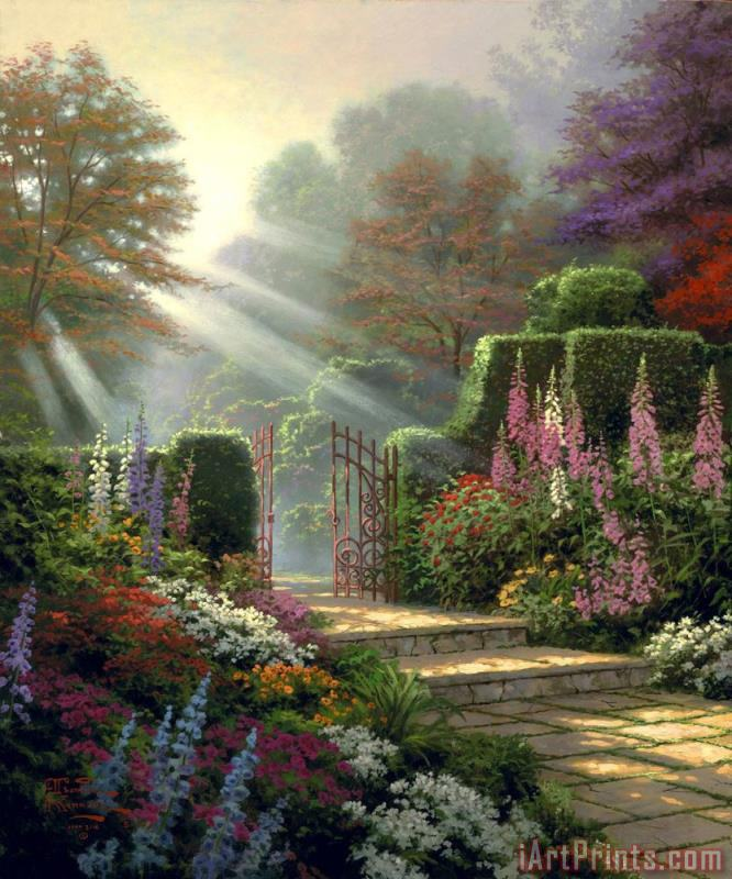 Thomas Kinkade Garden of Grace Art Print
