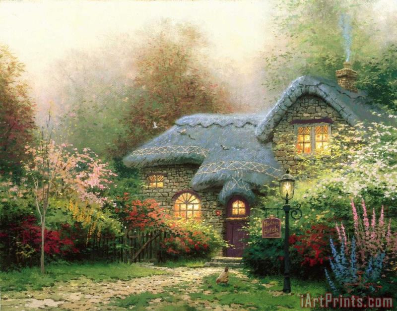 Heather's Hutch painting - Thomas Kinkade Heather's Hutch Art Print