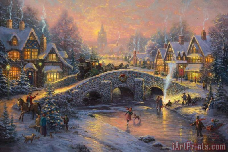 Spirit of Christmas painting - Thomas Kinkade Spirit of Christmas Art Print