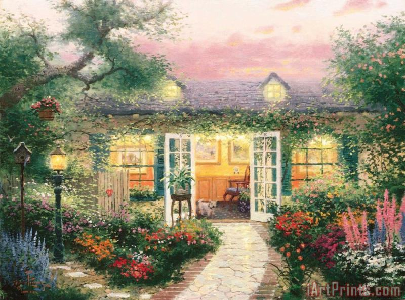 Studio in The Garden painting - Thomas Kinkade Studio in The Garden Art Print