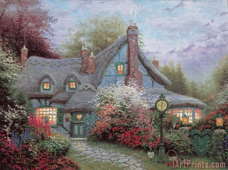 Thomas Kinkade Sweetheart Cottage Painting Sweetheart