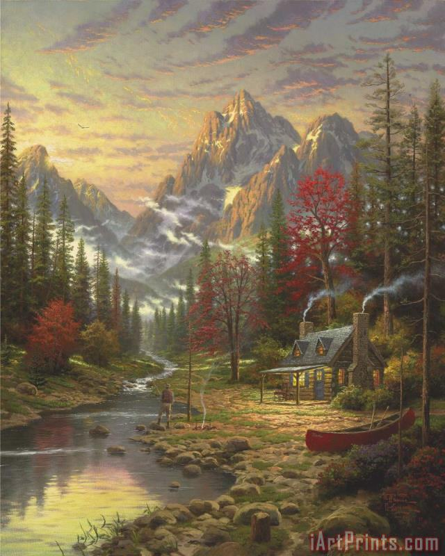The Good Life painting - Thomas Kinkade The Good Life Art Print