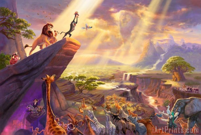 The Lion King Painting Print