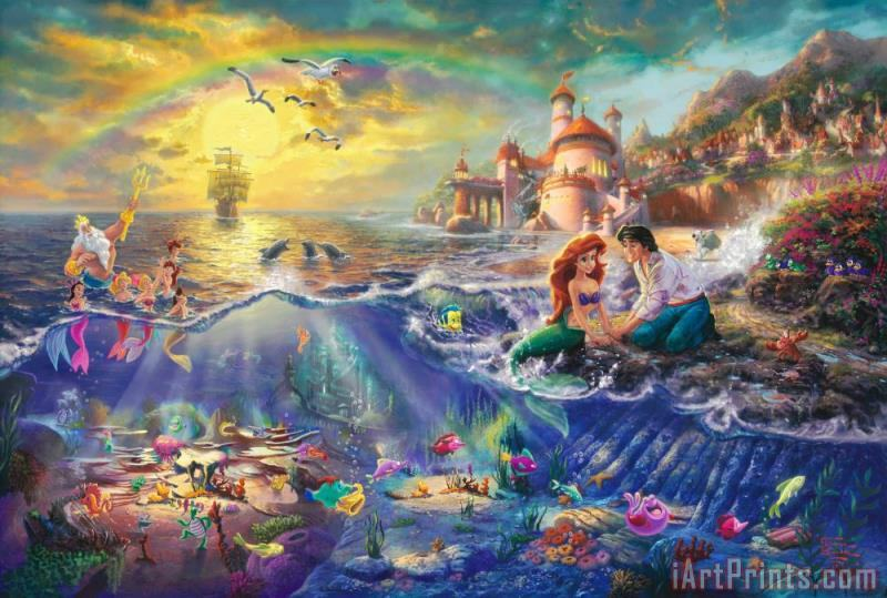Thomas Kinkade The Little Mermaid Art Print