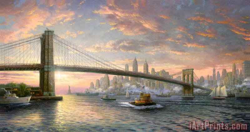 Thomas Kinkade The Spirit of New York Art Print