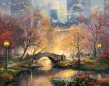 Central Park in The Fall by Thomas Kinkade