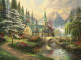 Dogwood Chapel by Thomas Kinkade