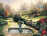 Gardens Beyond Autumn Gate by Thomas Kinkade