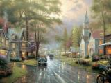 Hometown Evening by Thomas Kinkade