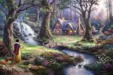 Snow White Discovers The Cottage by Thomas Kinkade