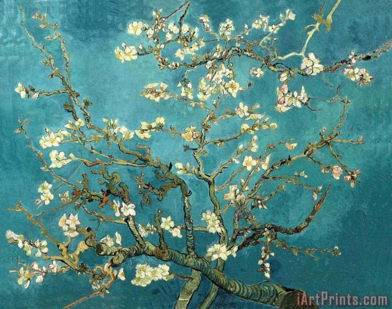 Vincent van Gogh Blossoming Almond Tree Art Print