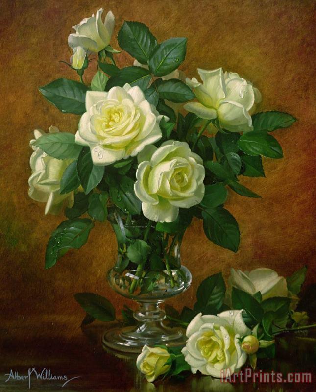 Albert Williams Yellow Roses Painting Yellow Roses Print For Sale