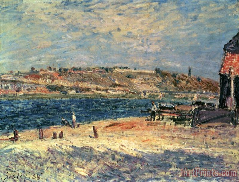Alfred Sisley River Banks at Saint-Mammes Art Print