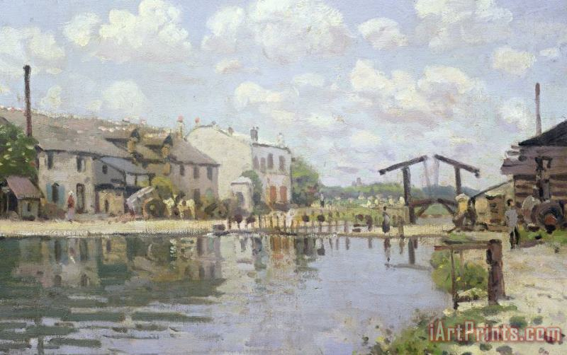 Alfred Sisley The Canal Saint Martin Paris Art Print