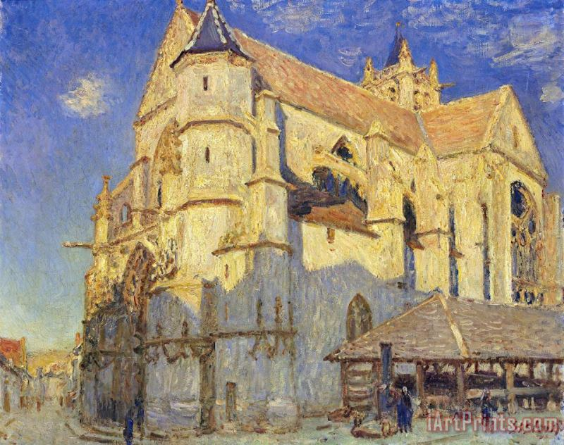 Alfred Sisley The Church at Moret Art Print