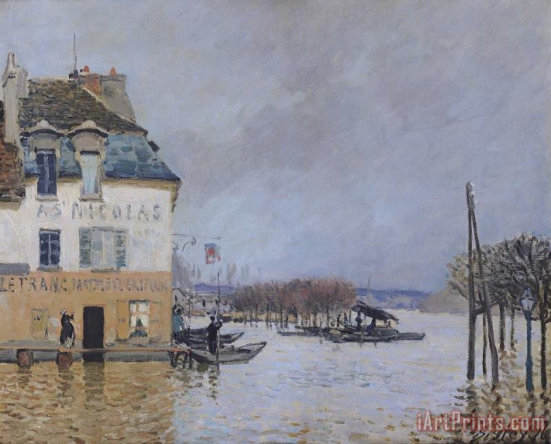 The Flood at Port Marly painting - Alfred Sisley The Flood at Port Marly Art Print