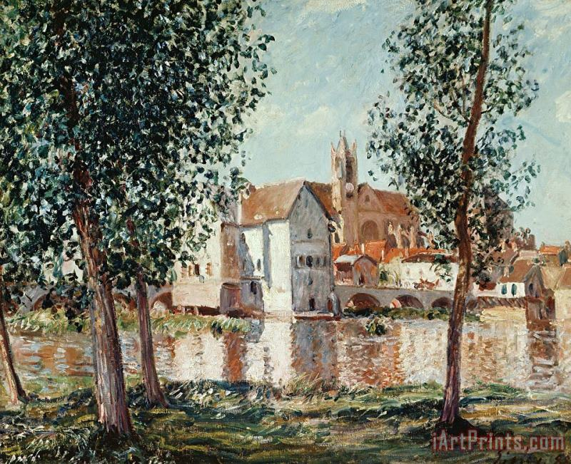 The Loing at Moret September Morning painting - Alfred Sisley The Loing at Moret September Morning Art Print