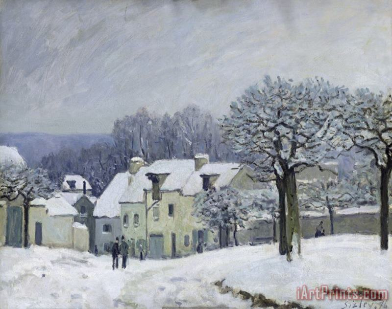 Alfred Sisley The Place du Chenil at Marly le Roi Art Print