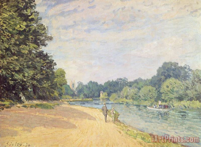 Alfred Sisley The Thames with Hampton Church Art Print