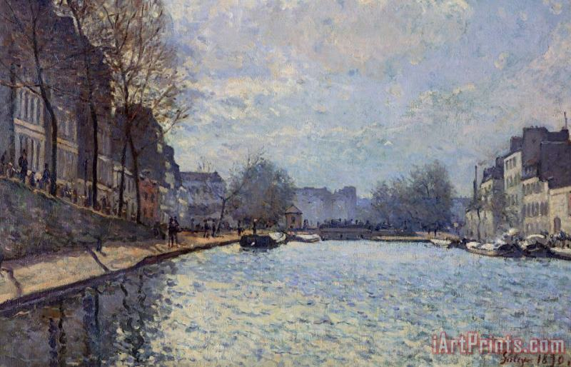 Alfred Sisley View of the Canal Saint-Martin Paris Art Print