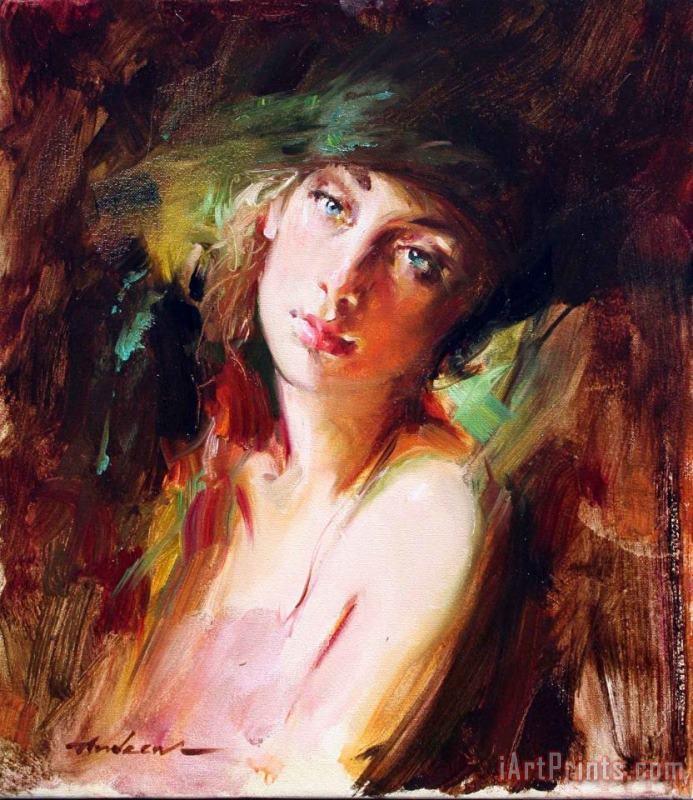 Andrew Atroshenko Knowing painting - Knowing print for sale