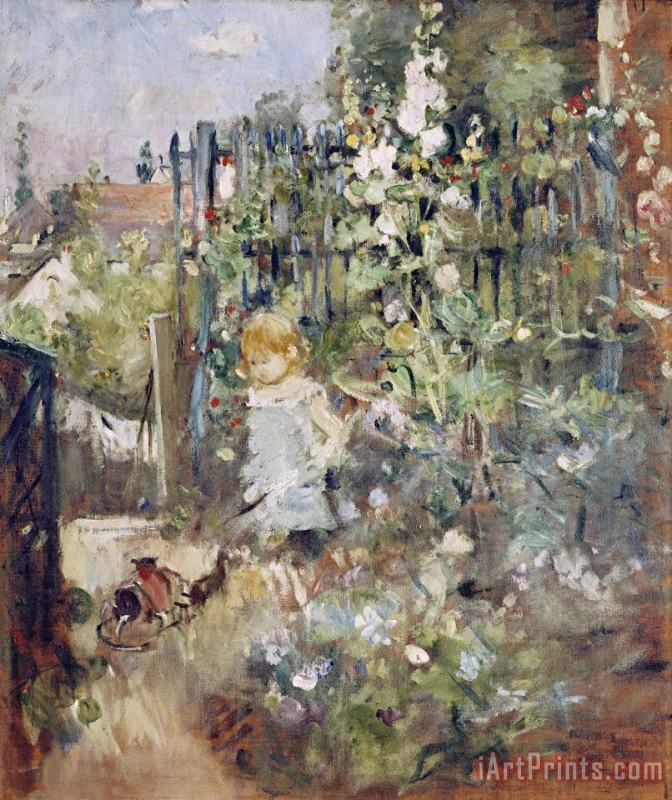 A Child in The Rosebeds painting - Berthe Morisot A Child in The Rosebeds Art Print