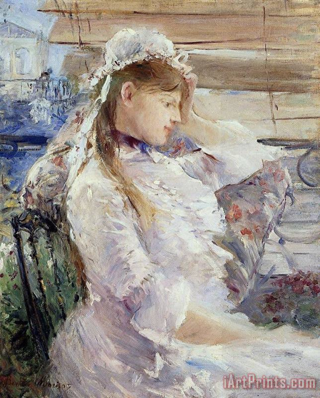 Profile Of A Seated Young Woman painting - Berthe Morisot Profile Of A Seated Young Woman Art Print