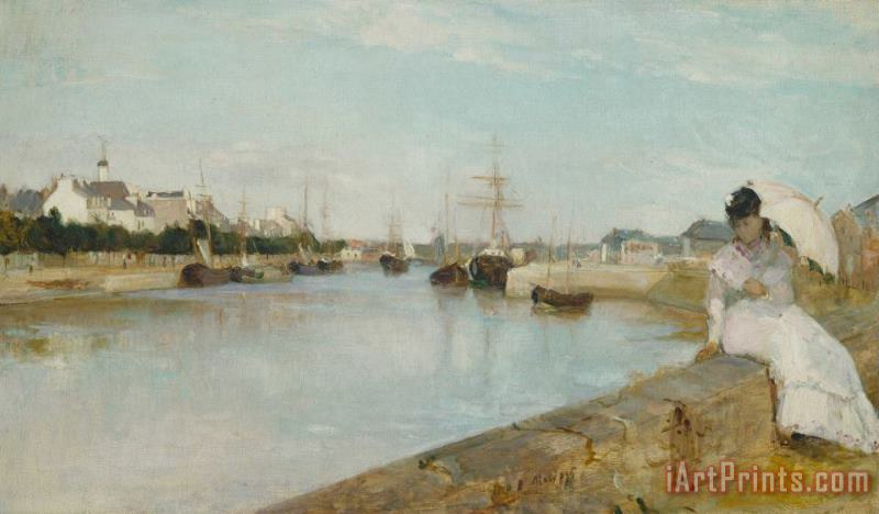 The Harbour At Lorient painting - Berthe Morisot The Harbour At Lorient Art Print