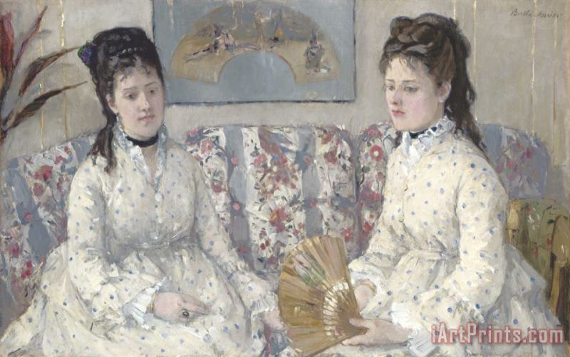 The Sisters painting - Berthe Morisot The Sisters Art Print