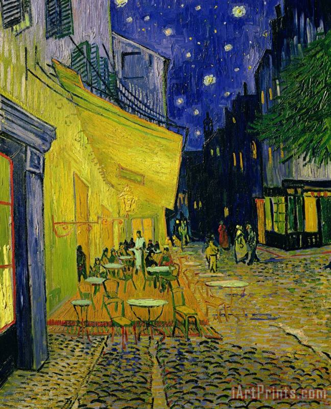 Vincent van Gogh painting - Cafe Terrace Arles Vincent van Gogh Art Print