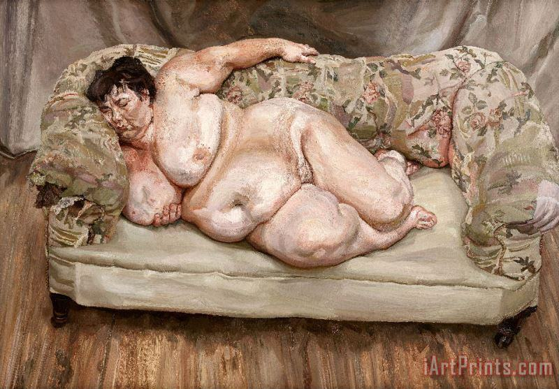 Benefits Supervisor Sleeping by Lucian Freud painting - Collection Benefits Supervisor Sleeping by Lucian Freud Art Print