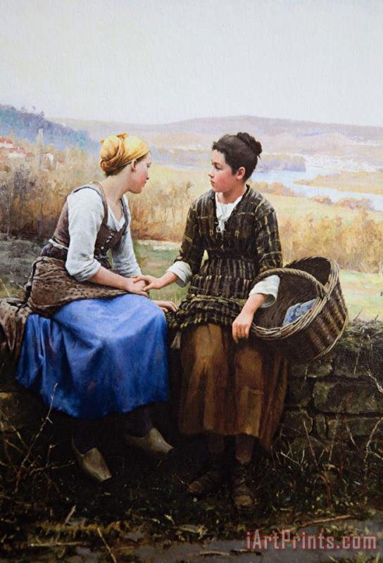 The First Grief, 1892 painting - Daniel Ridgway Knight The First Grief, 1892 Art Print